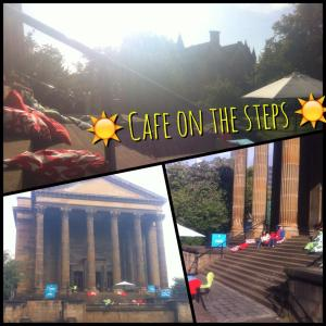 cafe on the steps