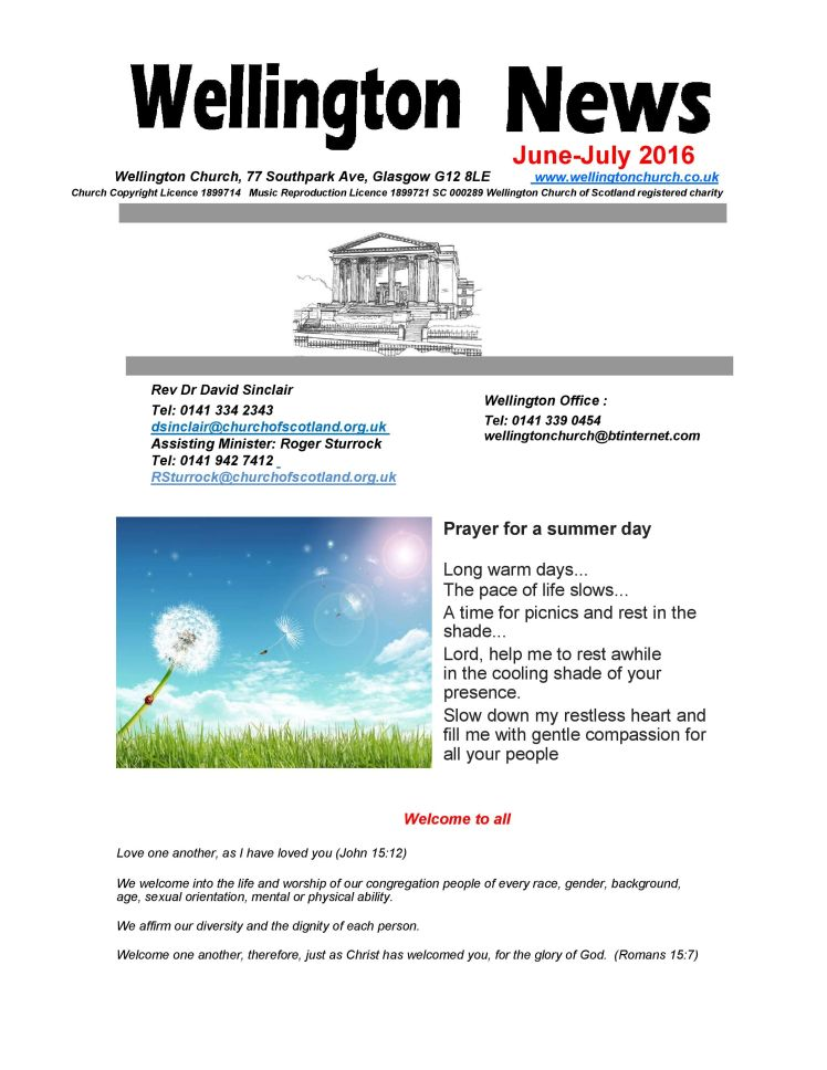 2016.06 June Edition Wellington News cover-page-001
