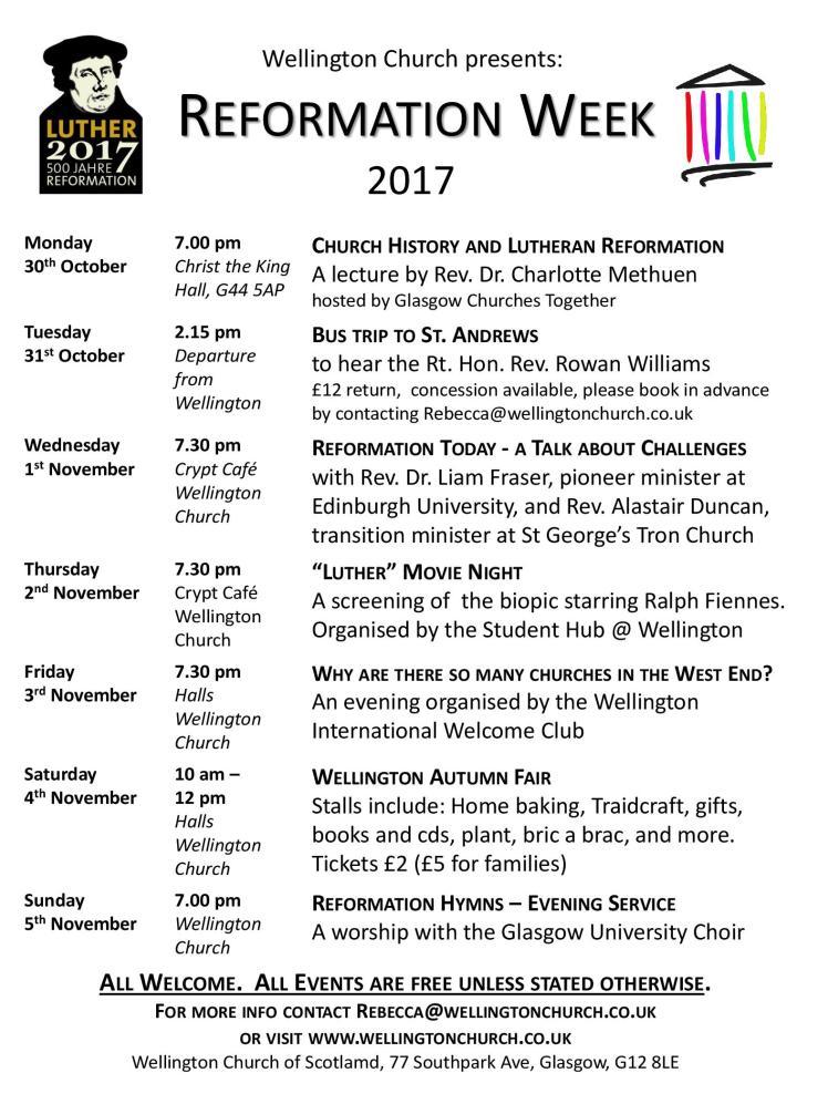 2017.10 Wellington Church Reformation Week