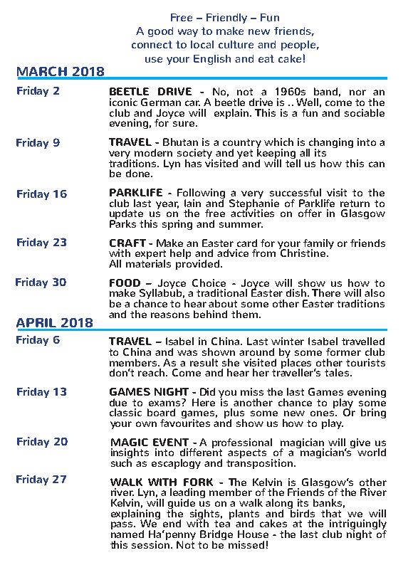 Spring 2018 programme 2