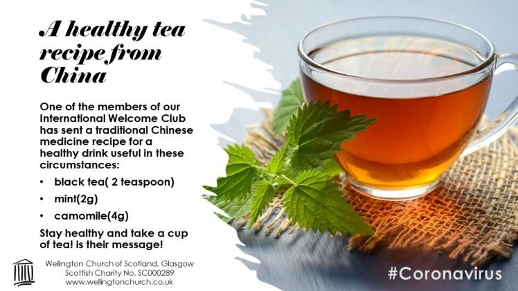 2020.03 Covid Tea Recipe